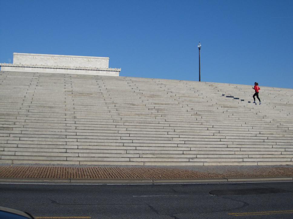 Lincoln Memorial peeking