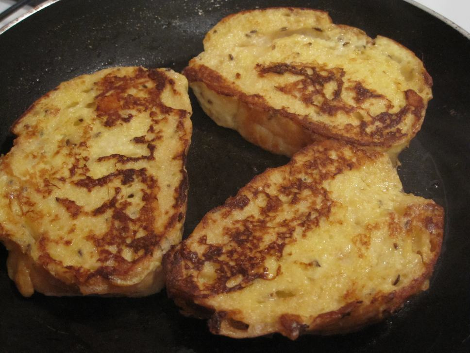 toasted omlette bread