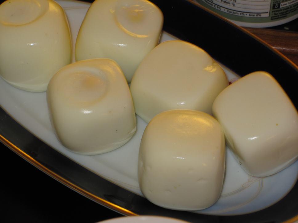 Hanukkah squared eggs