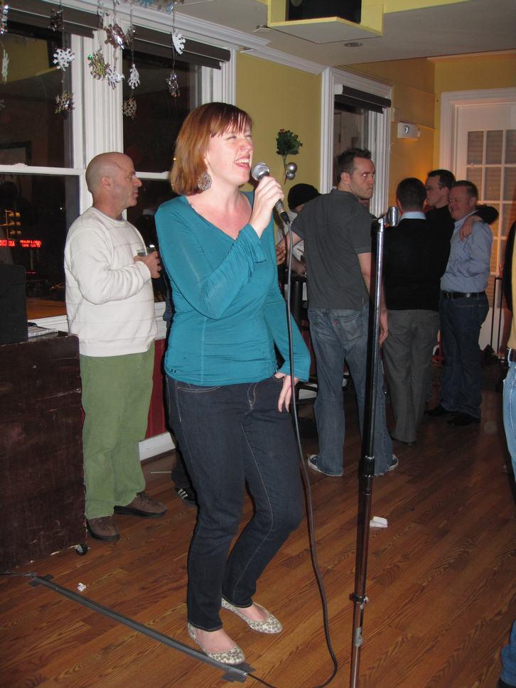 Kristine on the mic
