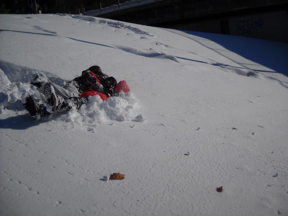 fun in the snow with Oren