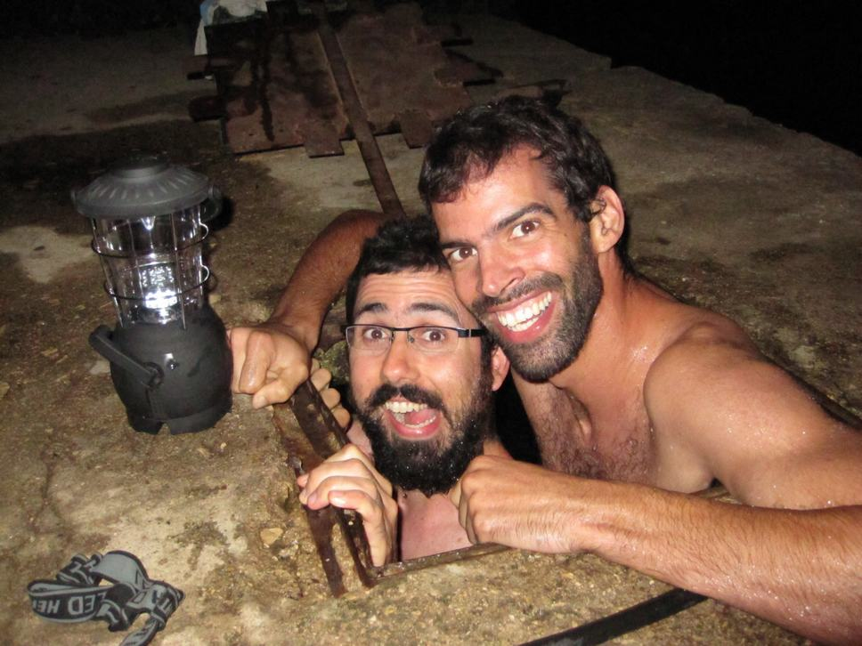 Itai and Tomer @ Yiron strange waterhole