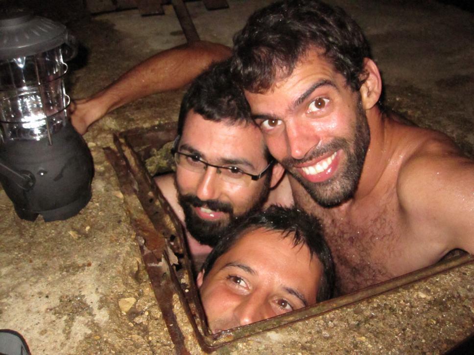 Itai, Ran, Tomer @ Yiron strange waterhole