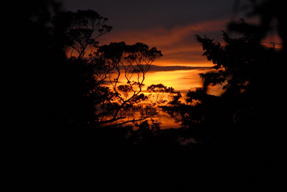 sunset from George\'s yard
