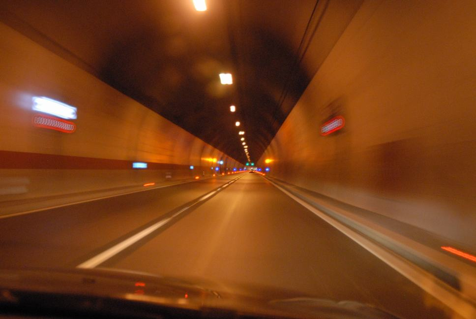 Croatian tunnel, on our way to Split